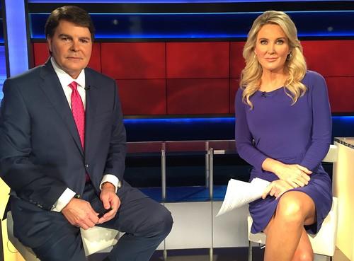 Hurricane Matthew Newscast posing with Heather Childers - Gregg Jarrett   by The Gregg Jarrett