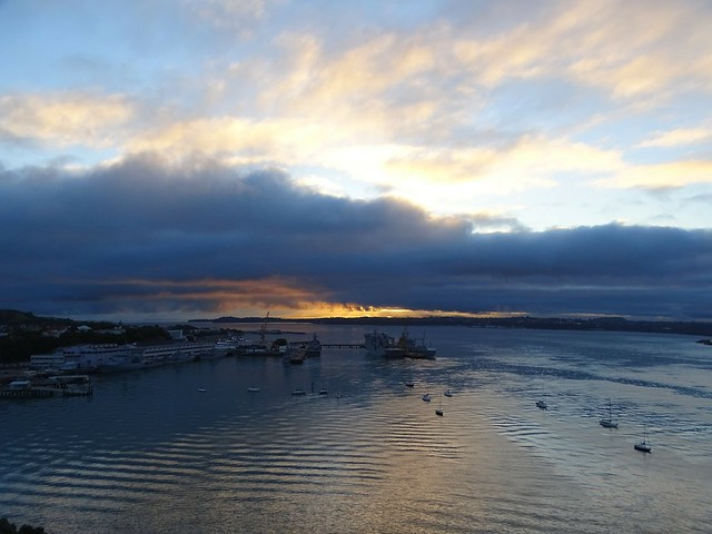 Sunrise on Auckland harbour - NZ