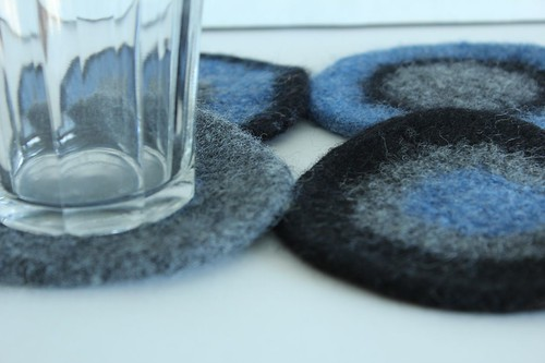 Felted Coasters - Christa Belle | by smithsoccasional