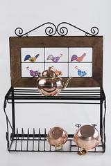 Paneleiro em ferro e peças em bronze