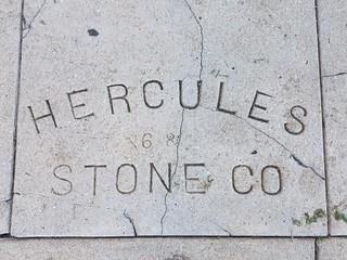 Sidewalk Date Marker - Hercules Stone Company - San Diego