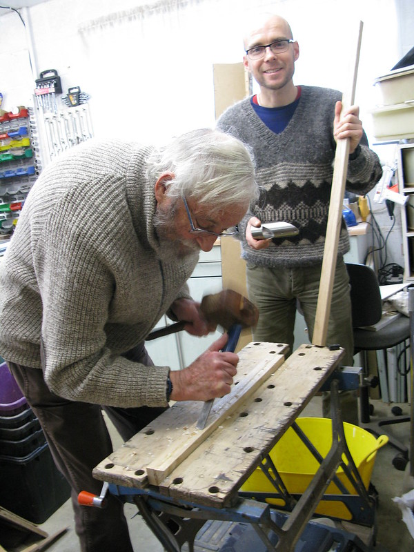 107. Building a Hebridean wind-vane self-steering system - cheers Dad - 2