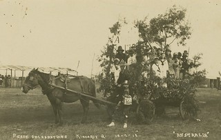 Members of the Kingaroy community on a float at the Peace Day Celebrations 1919
