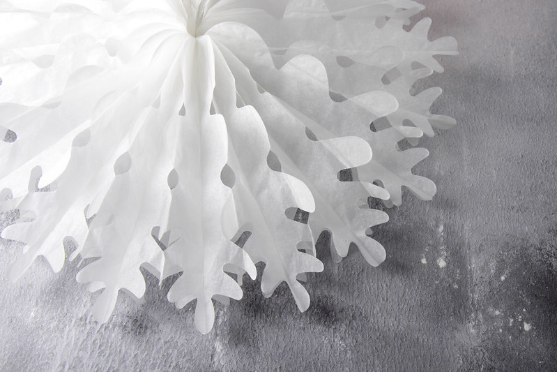Paper snowflake decoration