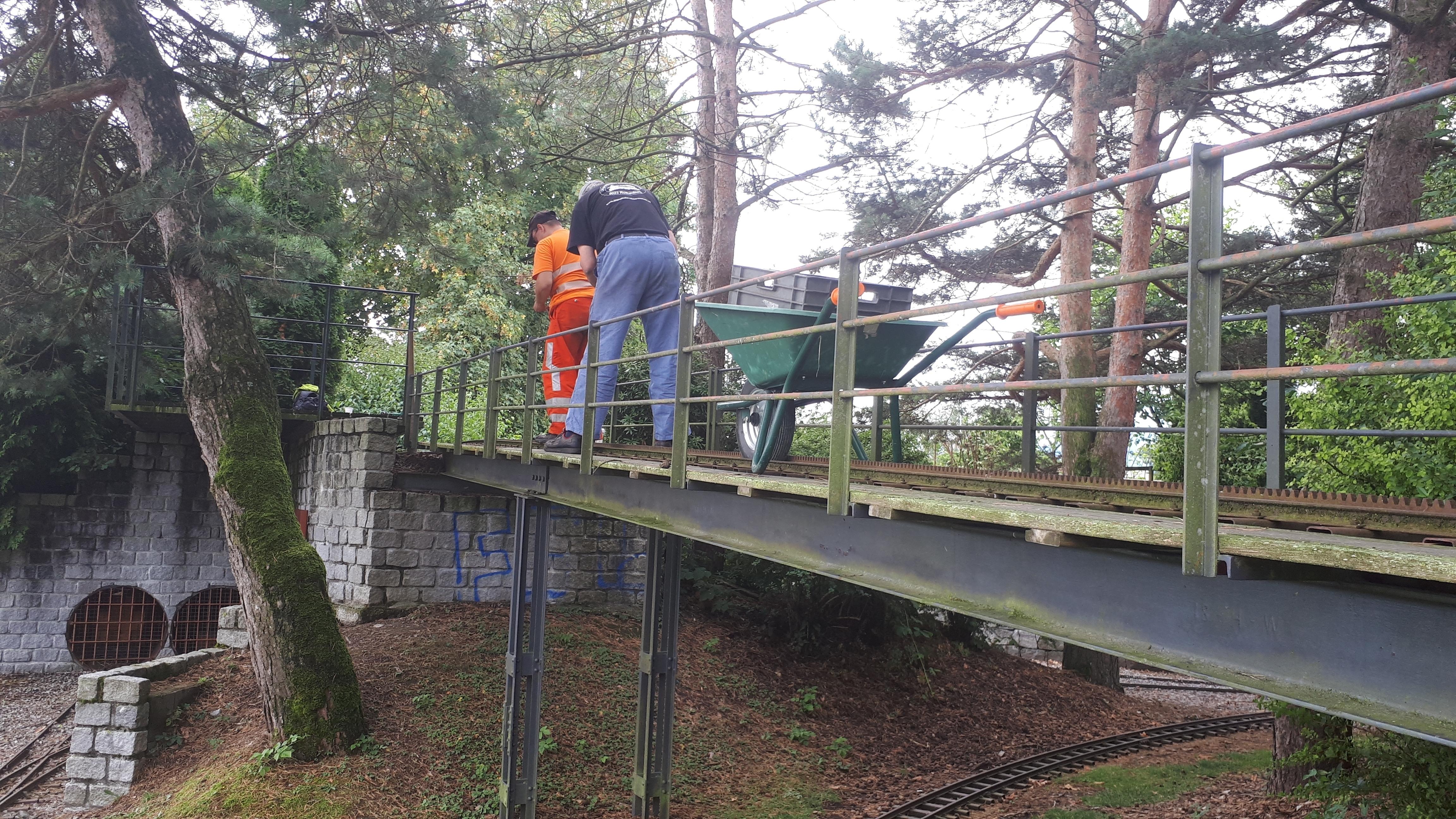 Bau 2018: Anpassungen Bergstrecke