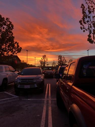 iphone8plus vibrant cloudporn color santaclarita november groceryshopping vons parked sunset
