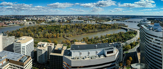 Panoramic view of Washington DC from Observation Deck at CEB Tower Rosslyn VA | by mbell1975