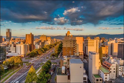 hiroshima hiroshimaprefecture japan jp japan2018 martinsmith cityscape view morning dramaticclouds sunrise