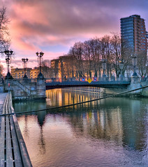 Klaipeda Canal sunset