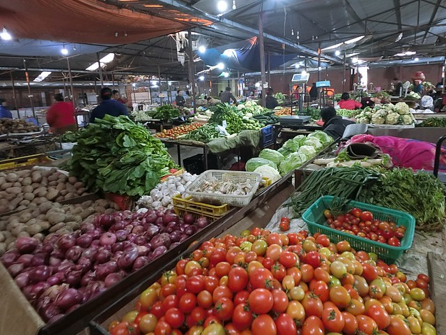 Fresh Vegetables in local market