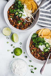 Chili Con Carne with Black and Pinto Beans   by Smells Like Home