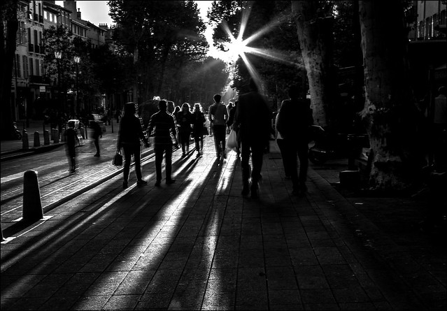 Soleil couchant sur la ville... / Sunset over the city...