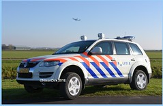 Dutch Police Touareg and 747.