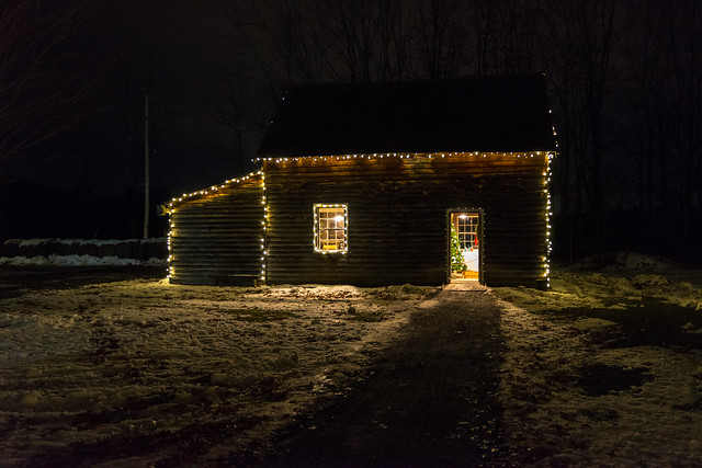 Christmas Lights at the Heritage Village in Cumberland, Ontario, Canada