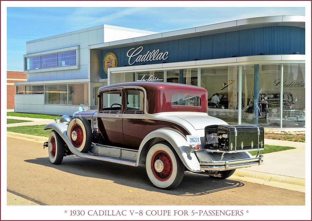 1930 Cadillac V-8 Coupe for 5-Passengers