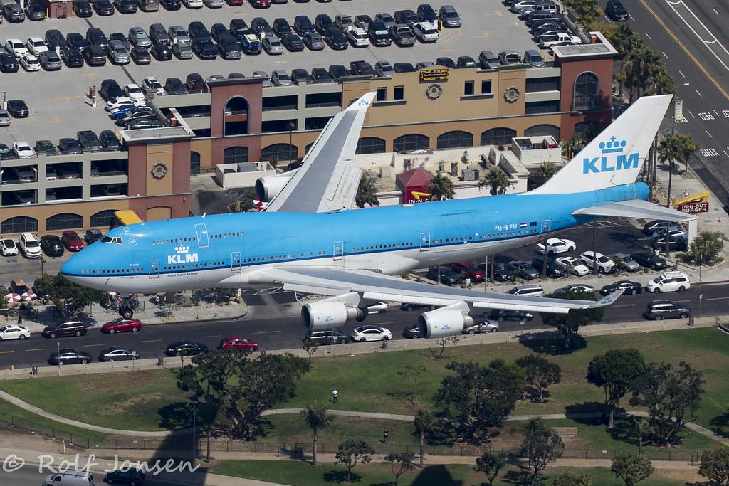 PH-BFU Boeing 747-400 KLM Los Angeles airport KLAX 12 09-1
