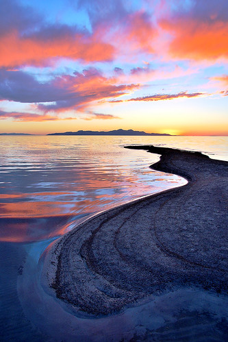 eechillington nikond7500 viewnxi corelpaintshoppro greatsaltlake summersolstice water reflections sunset utah hiking landscape vista sky clouds