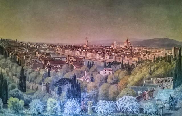Gallery Tylmanowska at Baranów Sandomierski Castle... view of Florence /17th century painting/