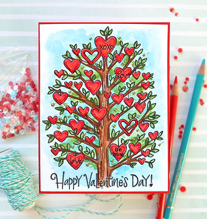 Valentine's Day Watercolor Card 5 | by suzy.plantamura