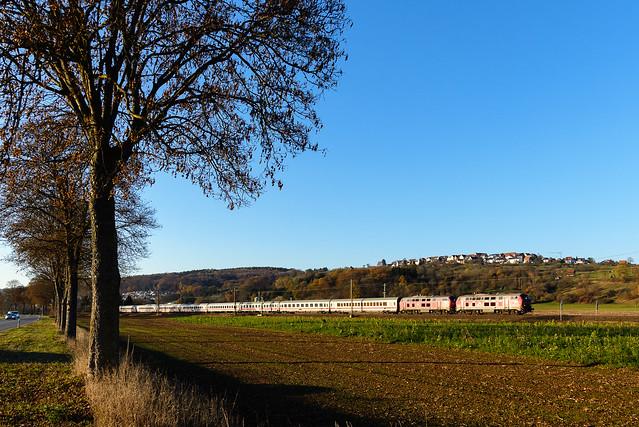 218 + 218, IC Dortmund Hbf - Oberstdorf, Ebersbach an der Fils