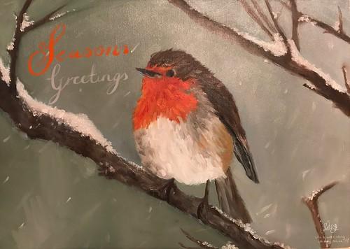 Seasons Greetings, from @GarethWong, oil painting by artist Léa Brunet Wong | by garethwong