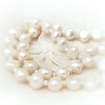 pearls on linen #MacroMondays #WhiteonWhite