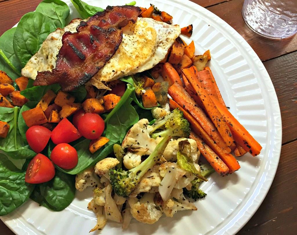salad with roasted veggies