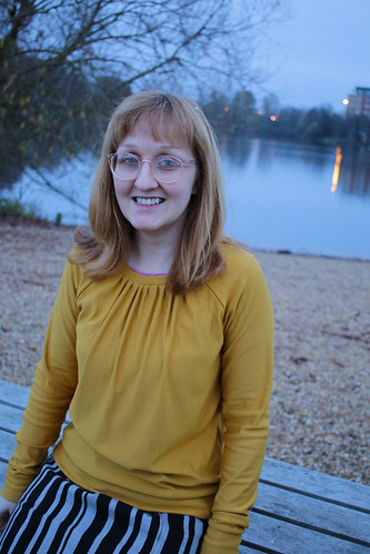 Mustard Grainline Studio Linden Sweatshirt | by English Girl at Home