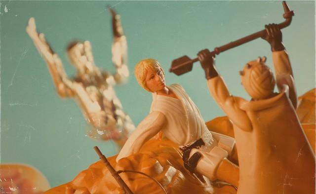 A Tusken Raider Attacks Luke
