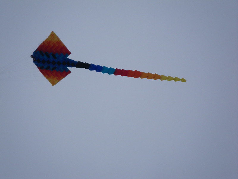 Kite flying on Walmer Beach