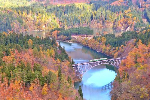 秋の第一只見川橋梁 (C)