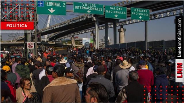Alcaldes del PRD ordenan bloquear aeropuerto por recorte en su presupuesto