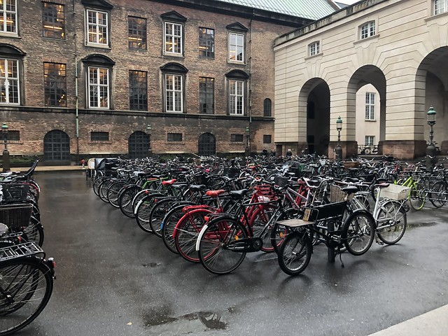 Parking lot at the Dutch Parliament