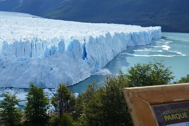 Ice Calving off Glacier