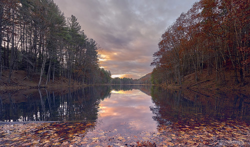 cranberrypond sunrise westernmass autumninnewengland autumn fall foliage reflection reflectionphotography pond pioneervalley massachusetts newengland sonyvariotessartfe1635mmf4za