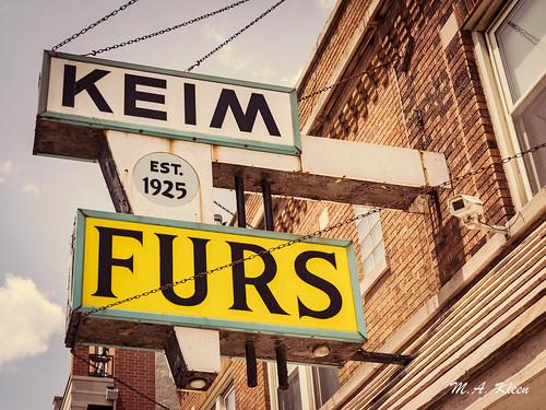 Keim Furs Vintage Sign