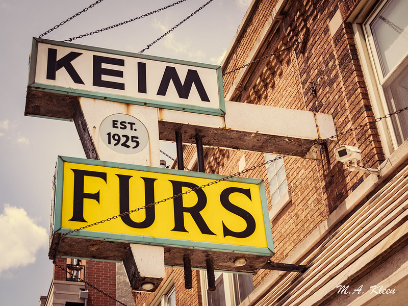 Keim Furs Vintage Sign