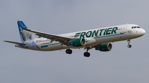 "Frontier Airlines Airbus A321-211(WL) N722FR ""Xavier the Mountain Goat"" 