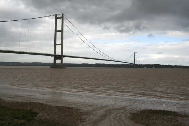 The Humber Bridge from Barton-upon-Humber