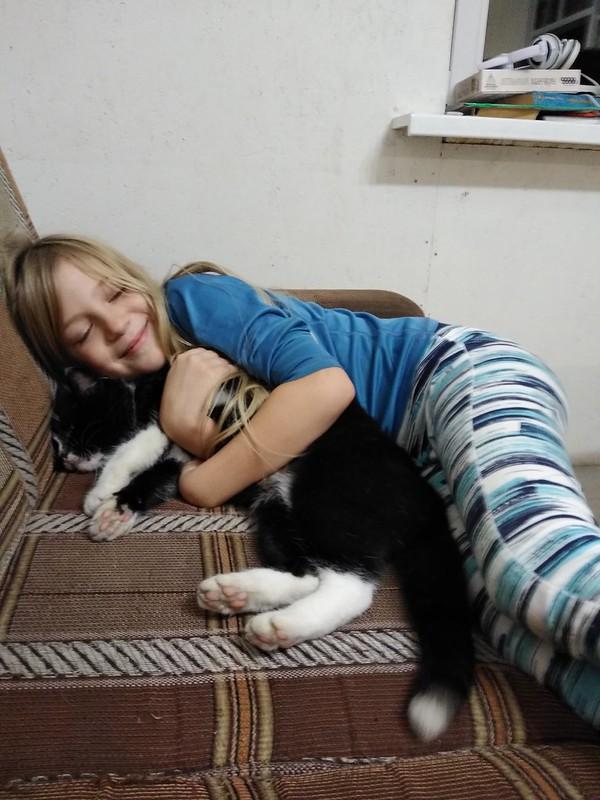 яна и кот