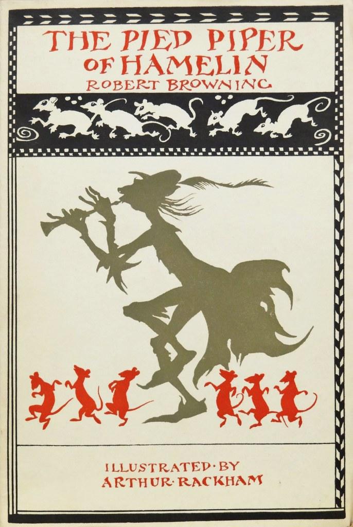 ARTHUR RACKHAM Vintage Classic Poster 1934 The Pied Piper of Hamelin