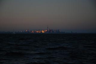 Toronto reflecting the sunset
