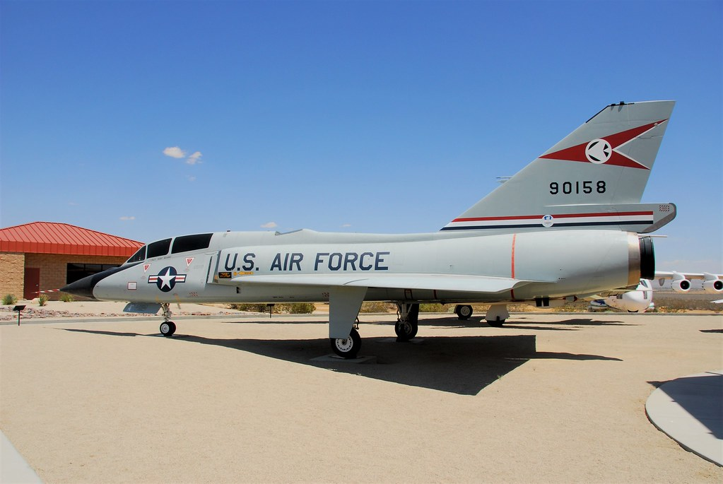 F-106B Delta Dart 59-0158 ex USAF. Preserved Century-Circle, Edwards AFB, California. 31 May 2016.
