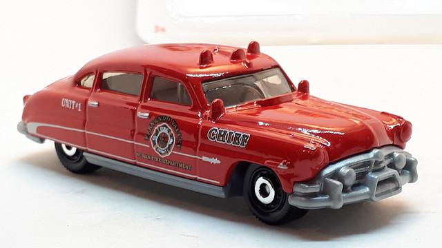 MATCHBOX 1951 HUDSON HORNET NO28 FERNANDO VALLEY NUWAN FIRE DEPARTMENT 1/64