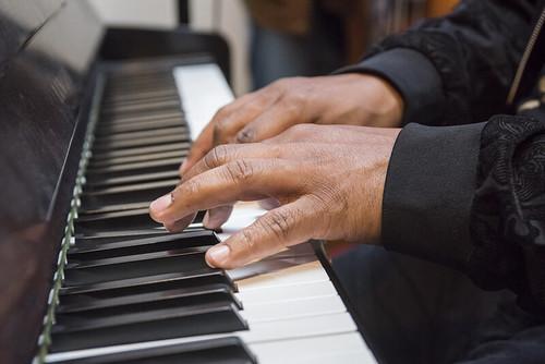 Nicholas Payton on piano at WWOZ's 38th birthday - 12.4.18. Photo by Ryan Hodgson-Rigsbee rhrphoto.com.