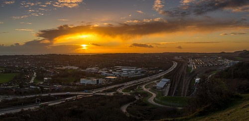 nikkor35mmf18 folkestone nikon winter train track sunset panorama kent d7100 clouds england channeltunnel cheriton