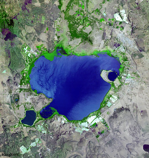 Lake Naivasha, 90km north-west of Nairobi. Original from NASA. Digitally enhanced by rawpixel.
