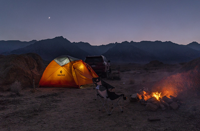 Camping in Alabama Hills