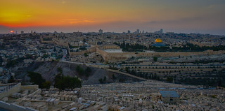 Sunset of the Old City viewed from Mount of Olives - Jerusalem Israel | by mbell1975