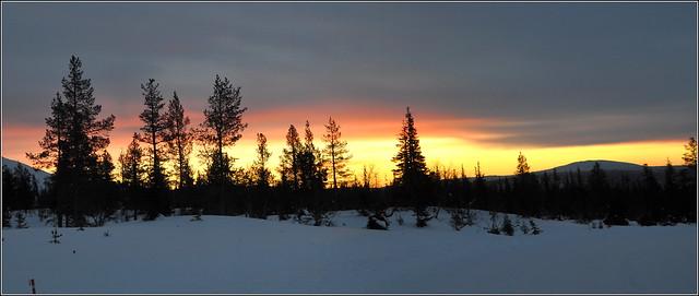sunrise dans le grand blanc...